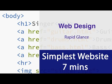 Simplest 4 Page Website - Tutorial HTML