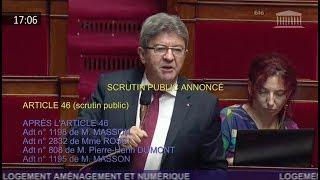 Magistrale intervention de JL Mélenchon sur le logement  06/06/2018