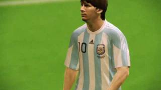 Argentina vs Brasil Pes 2010 Gameplay PC -FacundoCisterna-