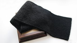 Мужской шарф спицами. Как связать шарф / How to knitting a scarf
