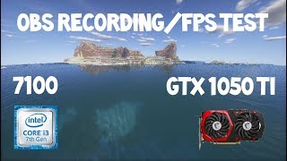 GTX 1050 TI GAMING X 4G | Minecraft FPS Test | OBS Recording | Shaders