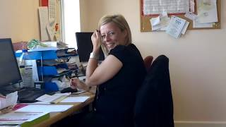Essex Girl Farts in the Office