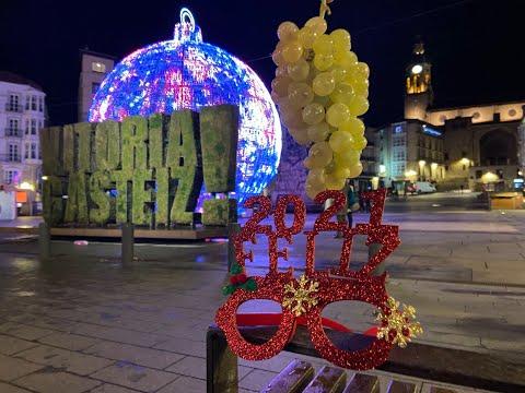 Campanadas de Nochevieja desde la Virgen Blanca de Vitoria-Gasteiz