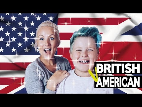 AMERICAN Vs BRITISH WORDS! (FUNNY) ARGUMENT!!