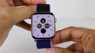 Apple Watch Series 5 44mm Stainless Steel Midnight Blue Sports Loop Unboxing/Review