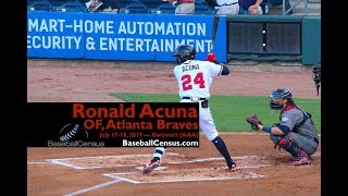 Ronald Acuna, OF, Atlanta Braves — July 17-18, 2017