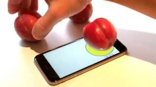 Weighing Plums on an iPhone