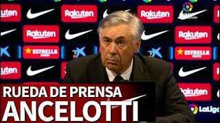 BARCELONA 1 - REAL MADRID 2 | Rueda de prensa de Carlo ANCELOTTI