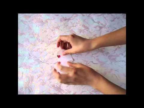 Бумажный цветок своими руками, простой цветок из бумаги, мастер-класс смотреть онлайн