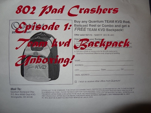 Quantum Team KVD Backpack review