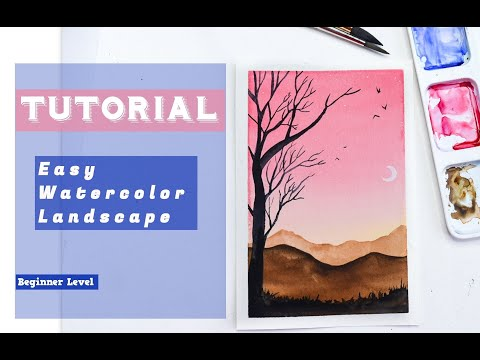 Easy Watercolor Landscape for Beginners