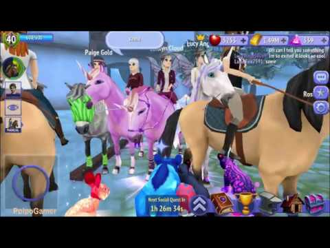 Playing With Luna, Bella, Lucy, Paige In Horse Riding Tales