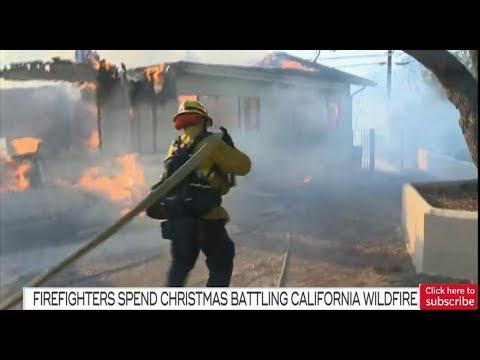 Latest update: Firefighters still battling wildfire in California
