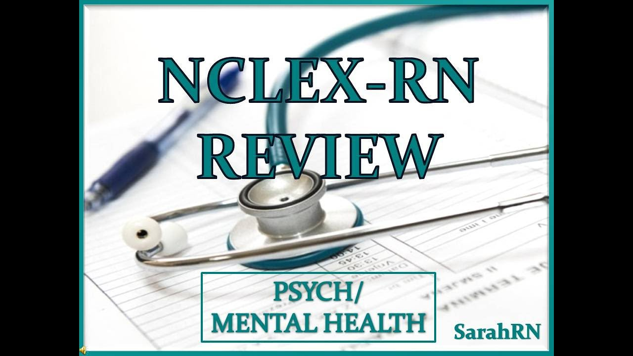 UWORLD NCLEX-RN Psych / Mental Health Review