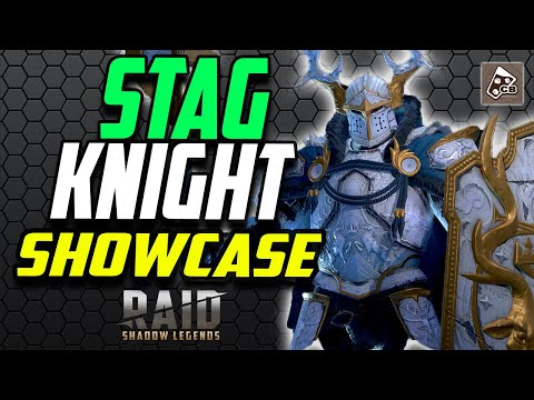STAG KNIGHT - TOP TIER EPIC - GAMEPLAY - BUILD - MASTERIES | RAID SHADOW LEGENDS