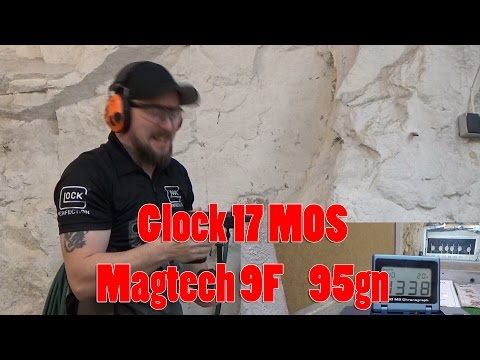 Glock 17 MOS + Magtech 9F 95gn Powerfactor