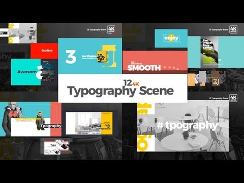 Typography - After Effects template - 동영상
