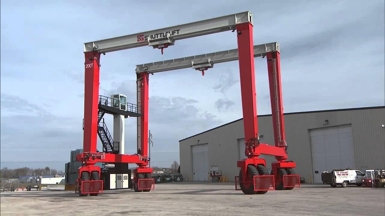 Mobile Gantry Crane Nz : Shuttlelift s db mobile gantry crane unveiling