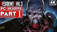 RESIDENT EVIL 3 REMAKE Gameplay Walkthrough Part 1 [4K 60FPS PC] - No Commentary
