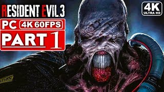 RESIDENT EVIL 3 REMAKE Gameplay Walkthrough Part 1 [4K 60FPS PC] - No Commentary