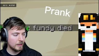 Mrbeast Gets Pranked By Fundy In Minecraft