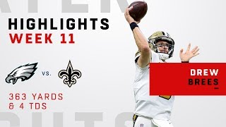 Drew Brees Busts Out 4 TDs & 363 Yards vs. Philly