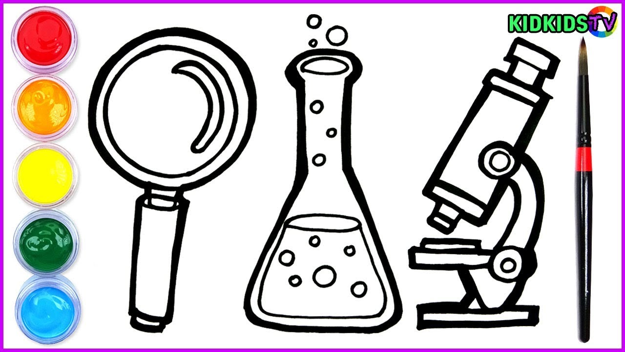 science draw drawing stuff laboratory coloring chemical