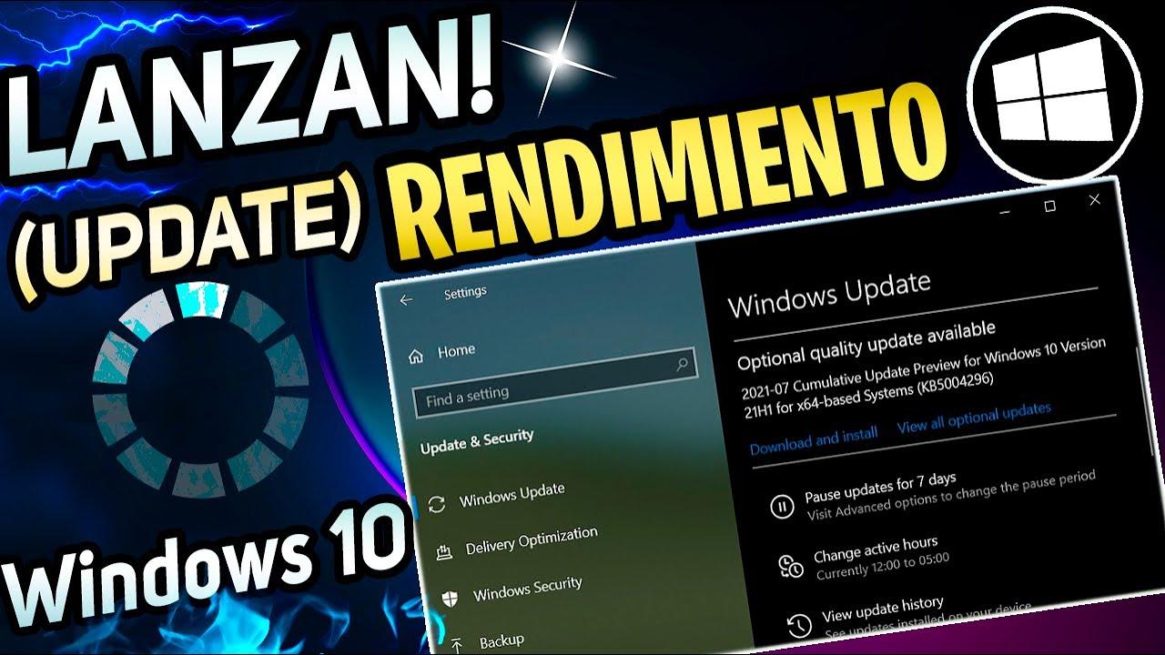 SALE⚡ NUEVA UPDATE Para Windows 10 21H1 / MEJORA en RENDIMIENTO en SISTEMA!