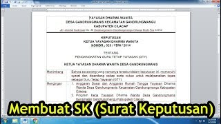 Download lagu Cara Membuat Surat Keputusan (SK) yang Mudah dan Rapi