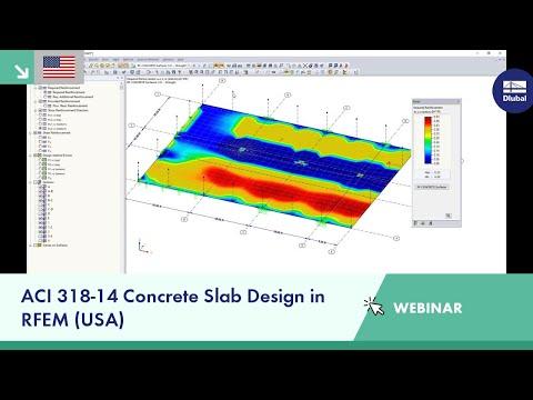 Dlubal Webinar: ACI 318-14 Concrete Slab Design in RFEM (USA)