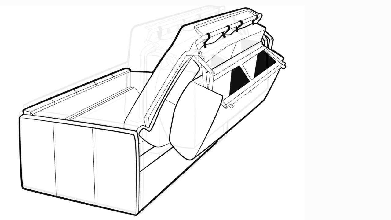 convertible rapido canap lit haut de gamme youtube. Black Bedroom Furniture Sets. Home Design Ideas