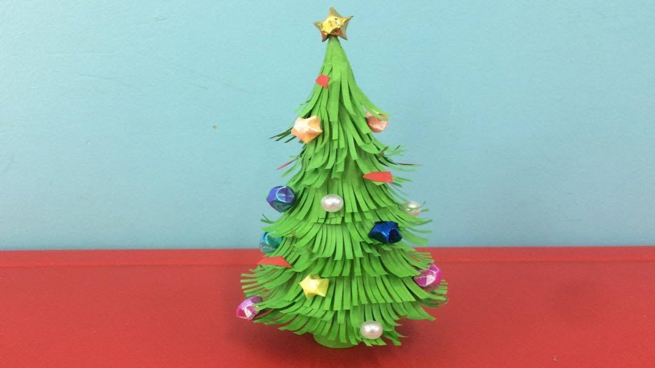 how to make paper christmas tree making paper xmas tree step by step diy paper crafts - How To Decorate A Christmas Tree Step By Step