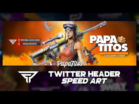 Twitter Header Speed Art | IPhone & Android | Renegade Raider