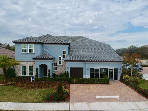 Orlando New Homes - Tuscawilla Estates in Oviedo by Meritage Homes - Barcelona Model
