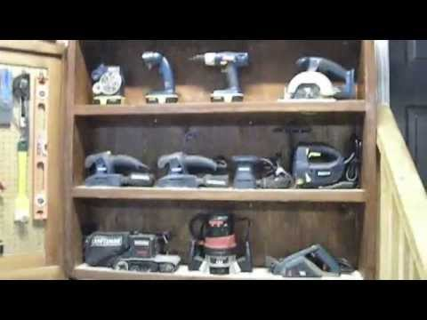 Tool Display Cabinet - Workshop Organization Ideas - YouTube