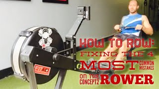 Fixing four of the most common mistakes on the concept2 rower