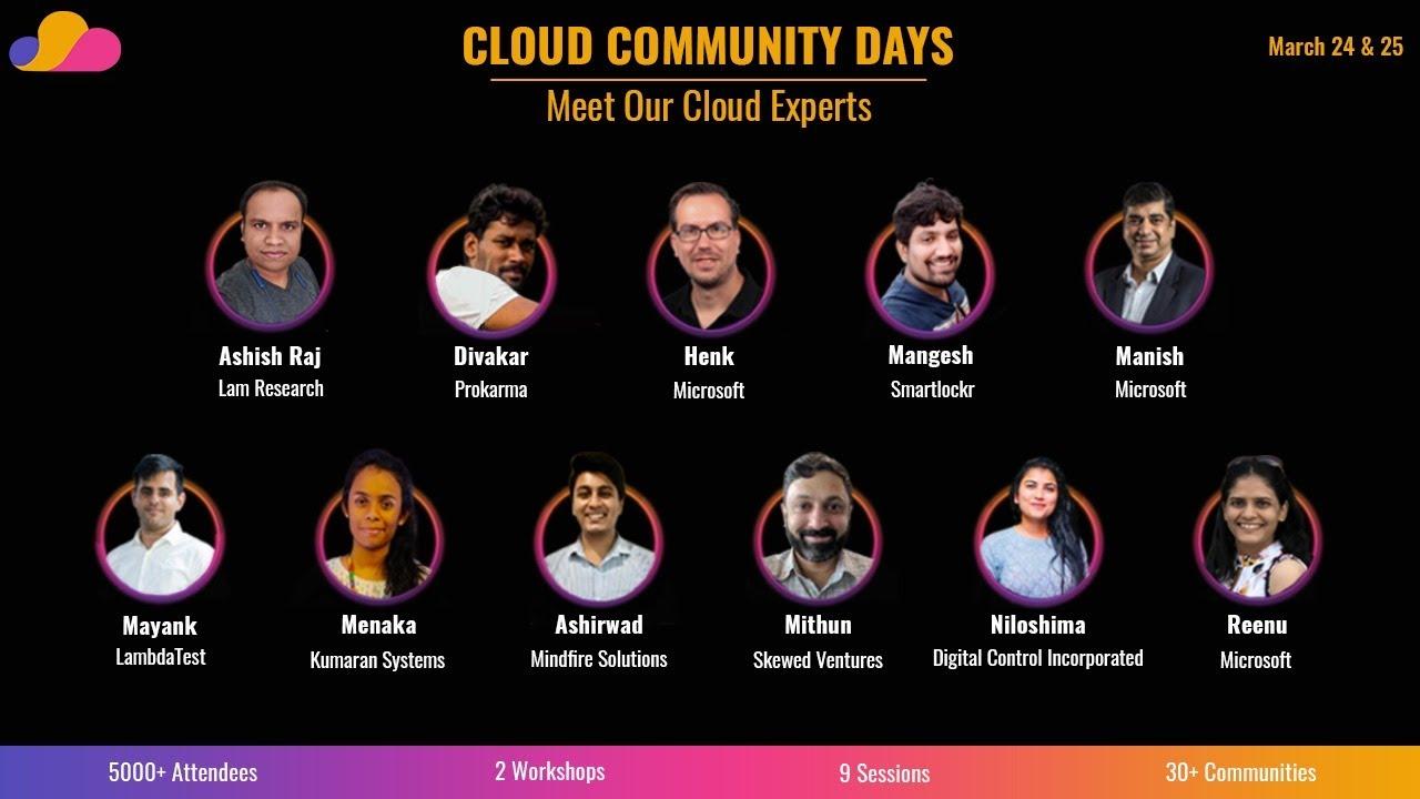 Cloud Community Days - Day 1