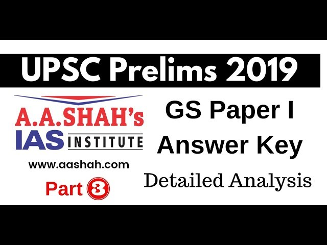 UPSC Prelims 2019 Paper Discussion Detailed Analysis Part 3 by Mrs Bilquees Khatri