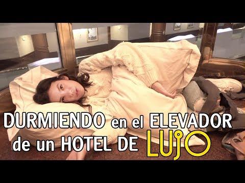 DURMIENDO en el ELEVADOR de un HOTEL DE LUJO   TV Ana Emilia