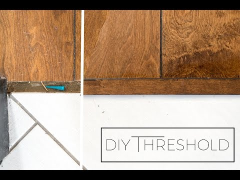 How To Make Your Own Threshold Piece From Leftover Flooring Youtube