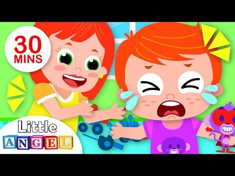 Why is the Baby Crying? | Twinkle Twinkle Little Star + More Nursery Rhymes | Little Angel