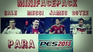 DESCARGAR MINIFACEPACK DE BALE JAMES MESSI Y GOTZE PARA PES 2013 Thumbnail