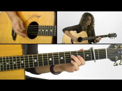 Open Tunings - #6 D sus 4 - Acoustic Guitar Lesson - Vicki Genfan