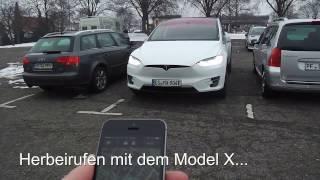 Herbeirufen (Summon) mit dem Tesla Model X - in Deutsch