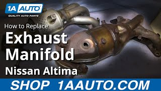 How To Install Replace Exhaust Manifold and Catalytic Converter 2002-06 Nissan Altima Sentra(http://www.1aauto.com/1A/direct-fit-catalytic-converter/Nissan/Altima/1AEEM00620 In this video, 1A Auto shows you how to remove a broken, leaking or ..., 2013-11-18T20:52:36.000Z)