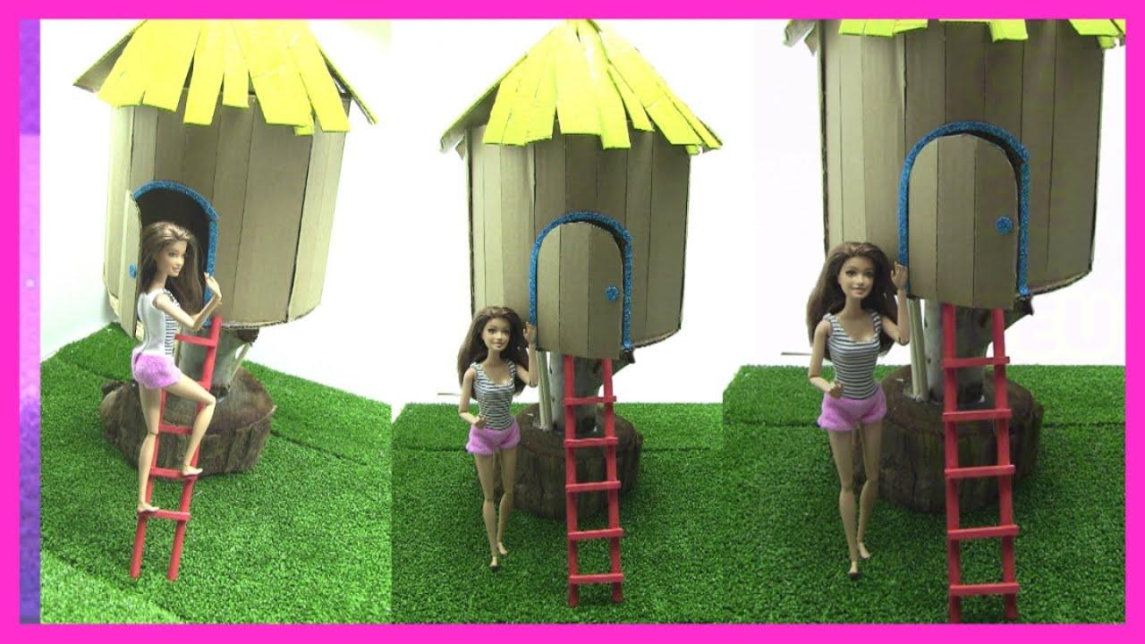 Hướng Dẫn Làm Ngôi Nhà Tổ Chim Trên Cây Cho Búp Bê Barbie (chị bí đỏ)