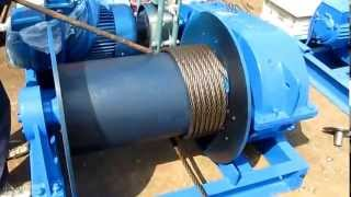 Electric winch wire rope installation