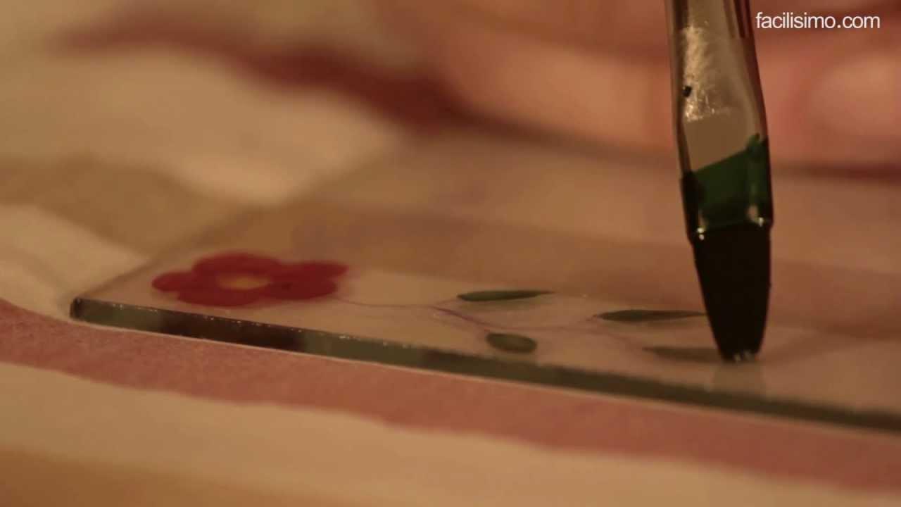 Cmo pintar sobre cristal facilisimocom YouTube