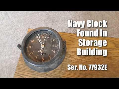 Chelsea Clock Co. Boston - U.S. Navy Clock