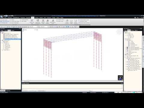 Repeat 3D simple 2bay frame - 3 Loads and Boundary Conditions: midas